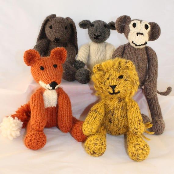 Five Knitting Patterns Uk For Rebecca Rabbit Freddie Fox Etsy