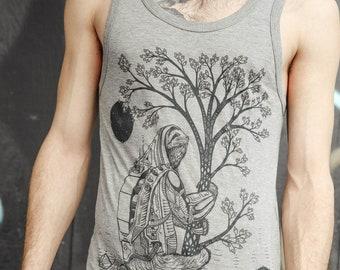 The Slothstronaut - Bamboo & Organic Cotton Unisex Tank Top / Sloth / Nature / Astronaut / Natural / Space / Sci-fi / Tree shirt / Pyramids