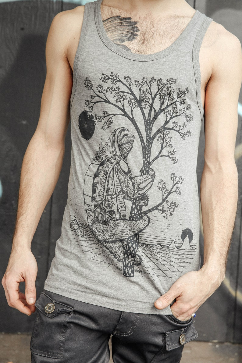 The Slothstronaut  Bamboo & Organic Cotton Unisex Tank Top / image 0