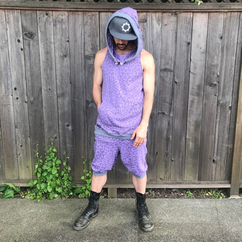 The Summer Jumpsuit  Organic Cotton Hooded Tank Top & Drop image 0