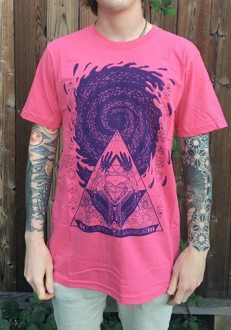 I Love Triangles  Unisex Organic Cotton Tee Shirt / Sacred image 0