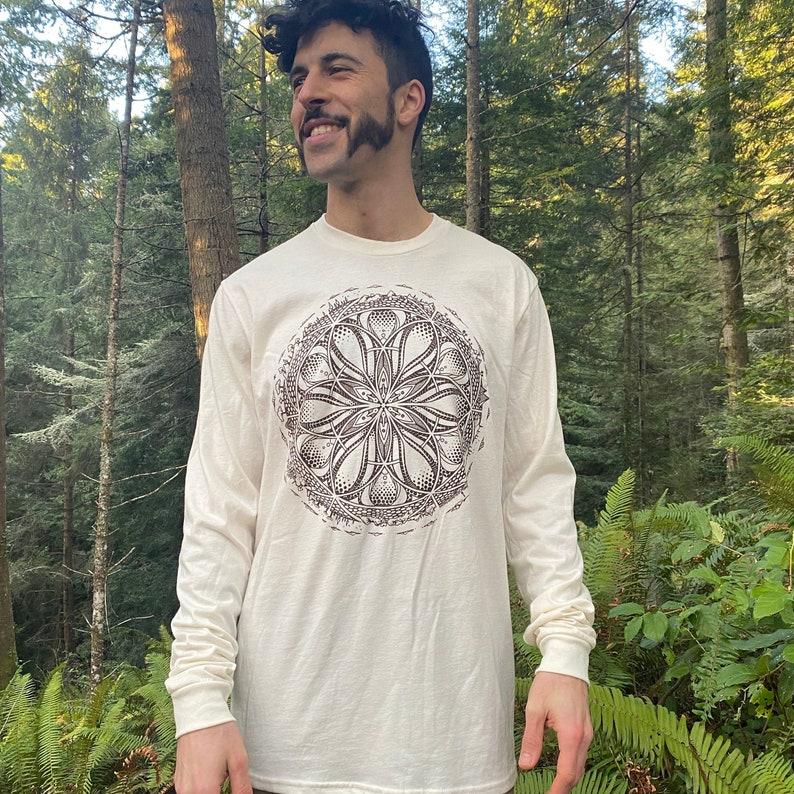 GAIA  Organic Cotton Unisex Long Sleeve T Shirt / Organic image 0