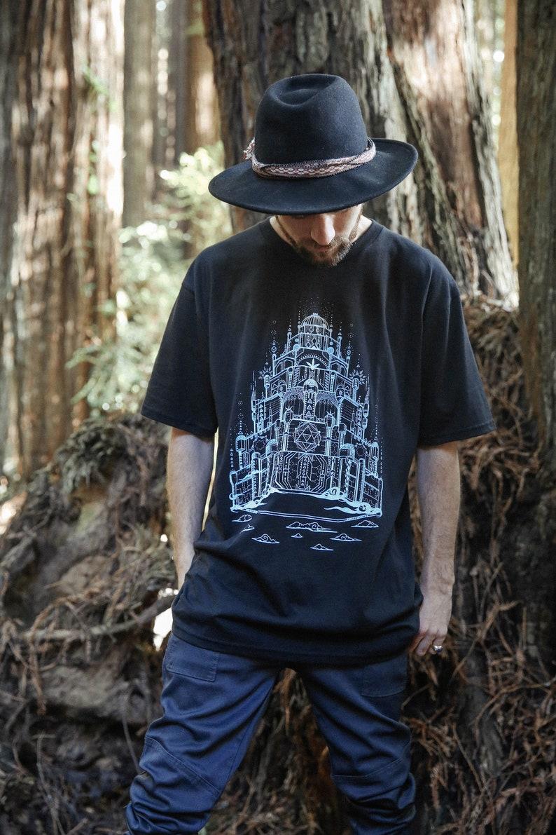 Vimana  Organic Cotton Unisex T Shirt / sacred geometry tee image 0