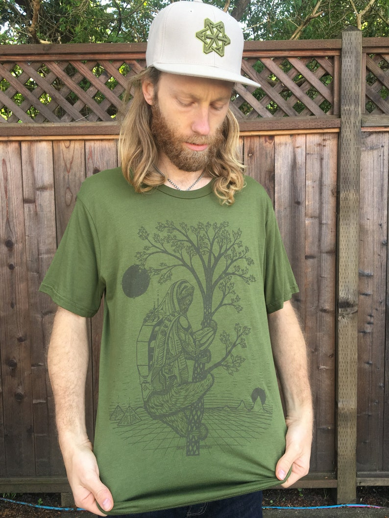 The Slothstronaut  Hemp shirt / Organic Shirt / Sloth Shirt / image 0
