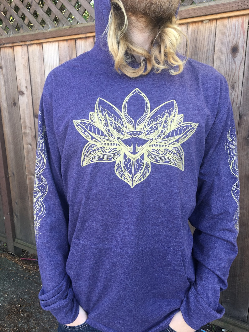 The Lotus  Unisex Lightweight Pullover Hoodie / Lotus Shirt / image 0