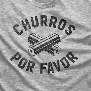Spanish Shirt Dessert Shirt Pastry Chef Gift Churros Por Favor Churro Scoop Neck Sweatshirt Off the Shoulder