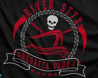 4e089621907 River Styx Regatta Club Shirt - Gothic Punk Grunge Occult Funny Satanic  Evil - Mens   Ladies Sizes - (See SIZING CHART in Item Details)
