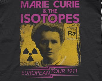 Marie Curie Tank Top - Feminist Science Shirt - Female Scientist Shirt - Science Shirt -Physics Shirt Scientist Gift - Unisex Sizes XS-2X