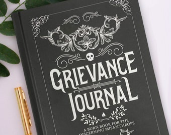 Anger Journal, Venting Journal, Anti Gratitude Journal, Novelty Gift for Him, Rage Notebook, Novelty Journal, Complaint Diary Grievance Gift
