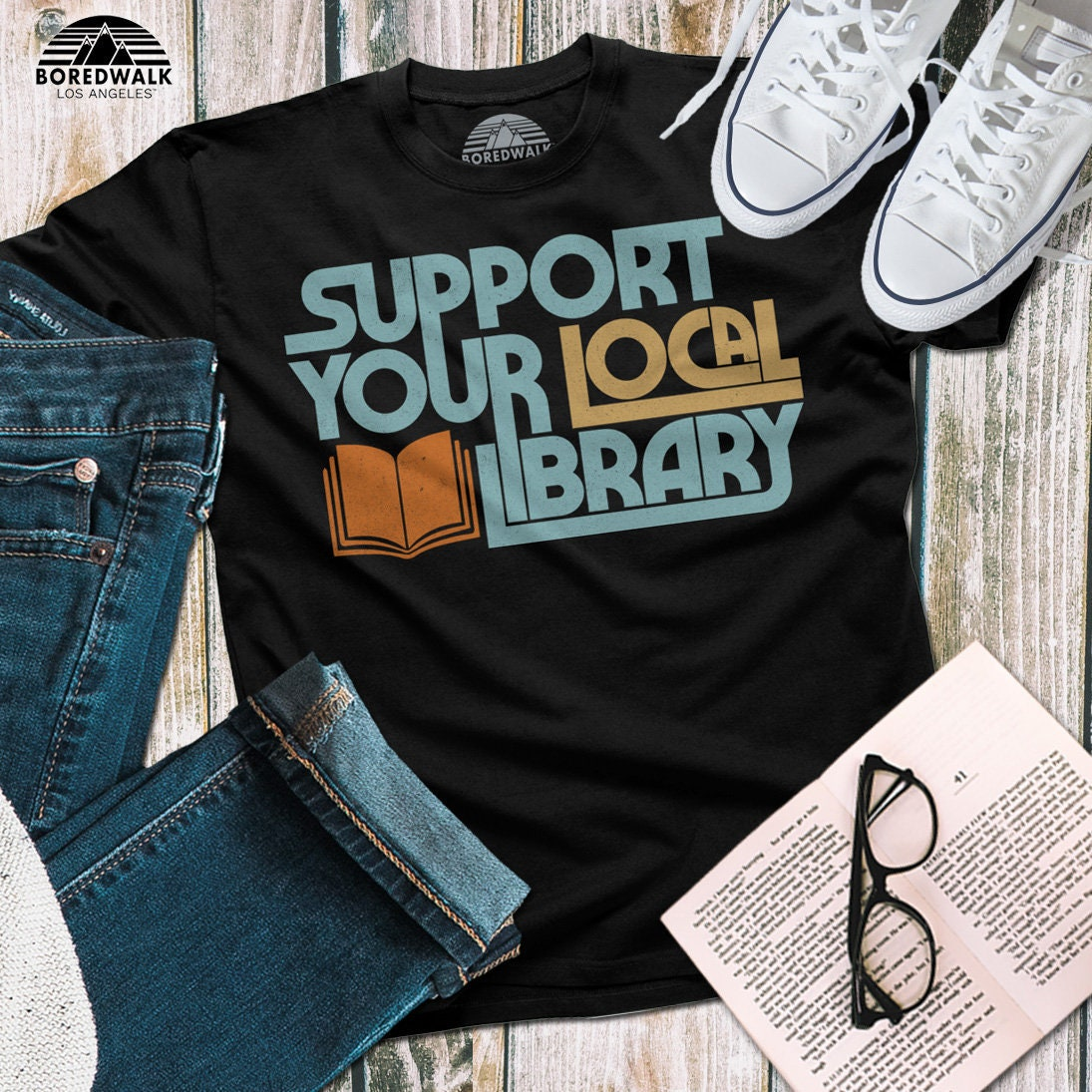 0a732e867 Support Your Local Library Shirt Book Lover Shirt Book | Etsy