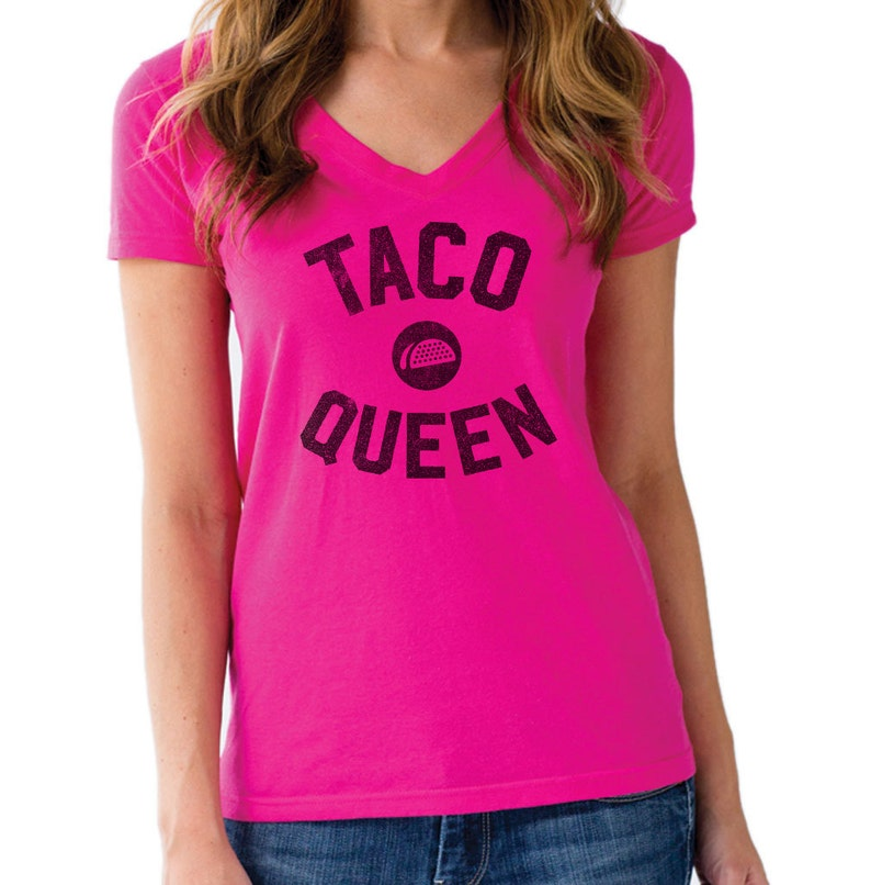 Taco Queen T-Shirt  Mens & Ladies Sizes Small-3X  Funny image 0