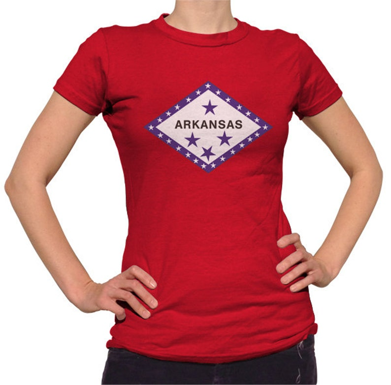 Arkansas T-Shirt - Arkansas Flag TShirt - Mens & Ladies Sizes (Small-3X) -  (Please see SIZING CHART in Item Details)