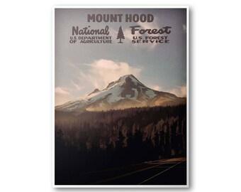 Mount Hood National Forest Poster