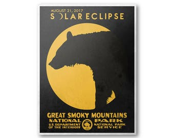 Great Smoky Mountains National Park Solar Eclipse 2017 Poster