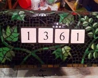 Mosaic Mailbox Ivy design