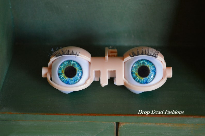TealBlue Blythe Eye Chips 14MM