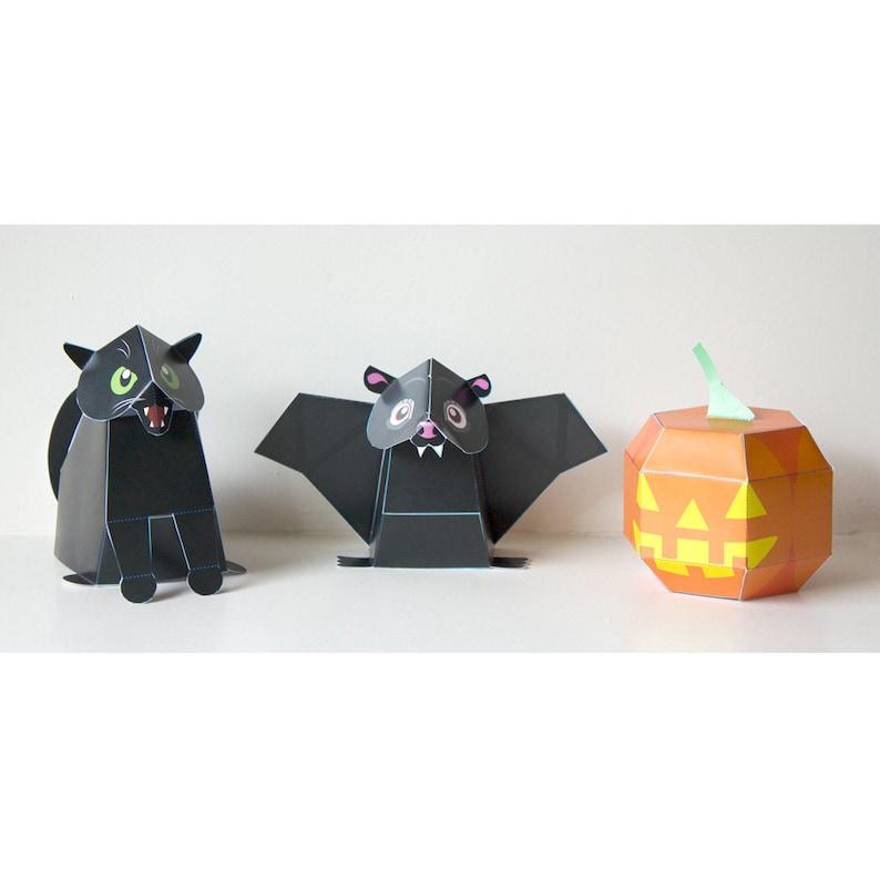 Halloween Papercraft /Halloween Decor / Halloween Craft / DIY image 0