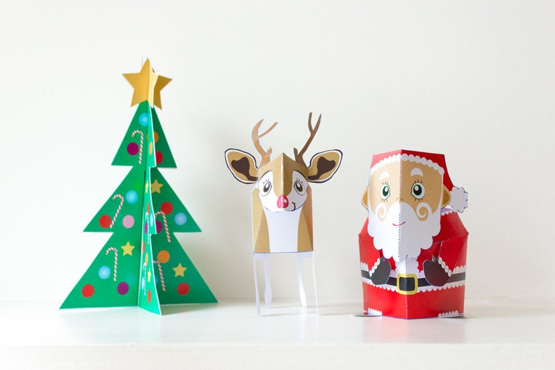 Christmas Papercraft / Christmas Decoration / Papercraft Kit / image 0