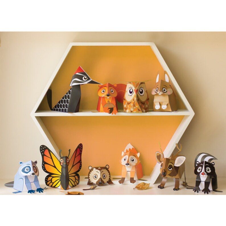 Woodland Animal Toys / Woodland Decor / Woodland Party / image 0