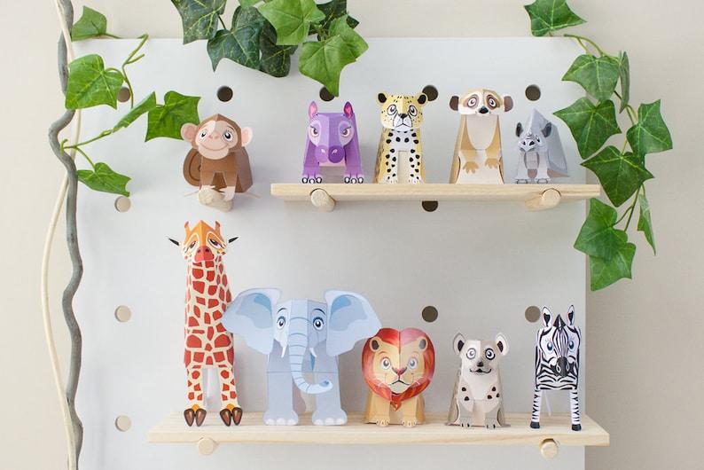 Papercraft Safari Animal Toys  / Jungle Animals / Safari image 0