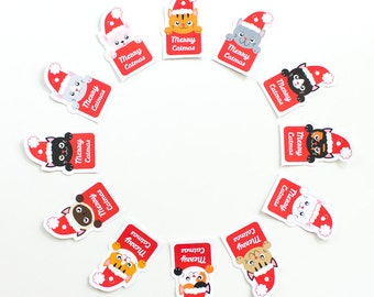 Printable Cat Christmas Gift Tags / Bunting / Christmas tree ornaments / Instant Download - by Kooee Papercraft