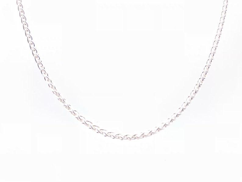 Silver Wheat Chain  Wheat Chain  Medium Size Pendant Chain  925 Sterling Silver  Silver Pendant Chain  All Sizes