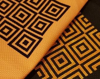 Optical Illusion 2  - *2 in 1 digital pattern* cross stitch pattern, embroidery, geometric, modern cross stitch, beginner