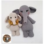 Pattern Bundle SWC Large and Small Elephant Crochet Patterns  - Amigurumi Crochet Pattern - Pdf Instant Download - Pattern only