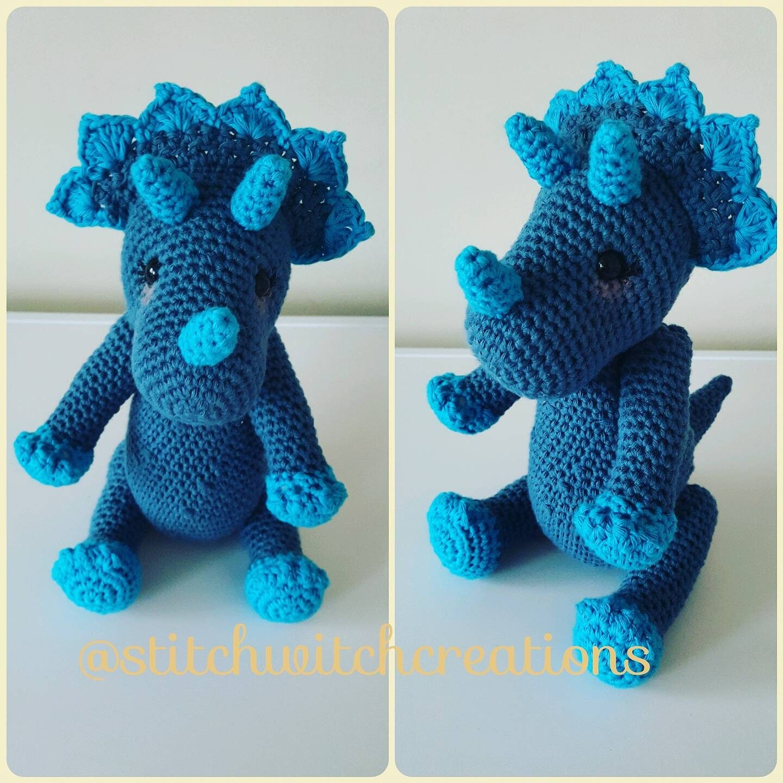 tilly the triceratops crochet pattern amigurumi pdf instant