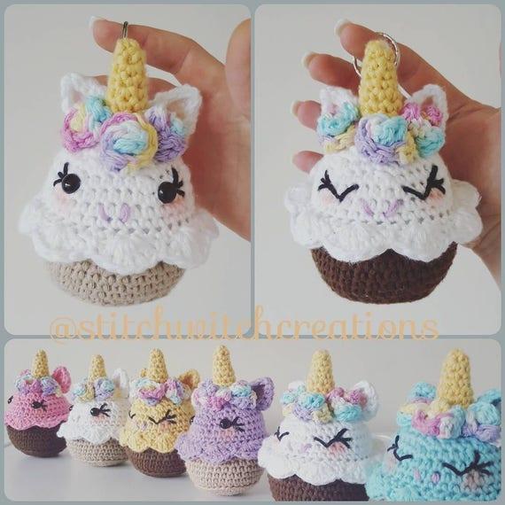 Lavender Unicorn Cupcake Crochet Pattern Amigurumi PDF | Etsy
