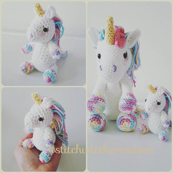 SWC Mini Lavender Unicorn Crochet Pattern SWC Minis Etsy Beauteous Unicorn Crochet Pattern