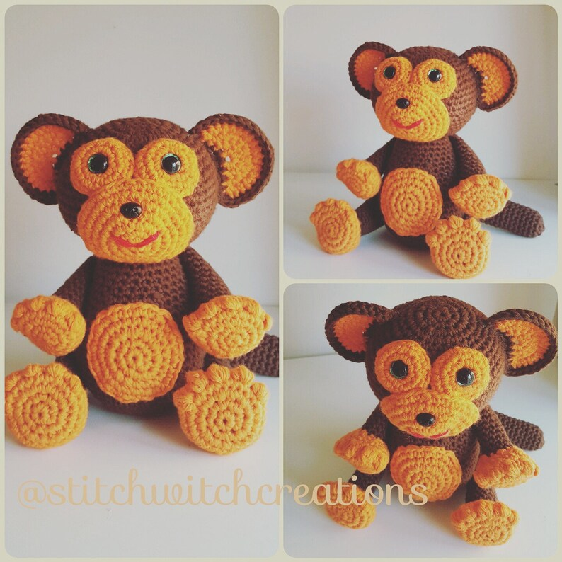 MARSHALL THE MONKEY  Crochet Pattern  Amigurumi Pdf instant image 0