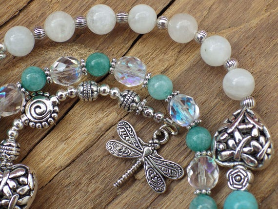 Goddess Freya Pagan Prayer Beads, Witches Ladder, Mala, Wiccan Rosary,  Witches Rosary, Meditation Beads, Love Spell Casting, Worry Beads