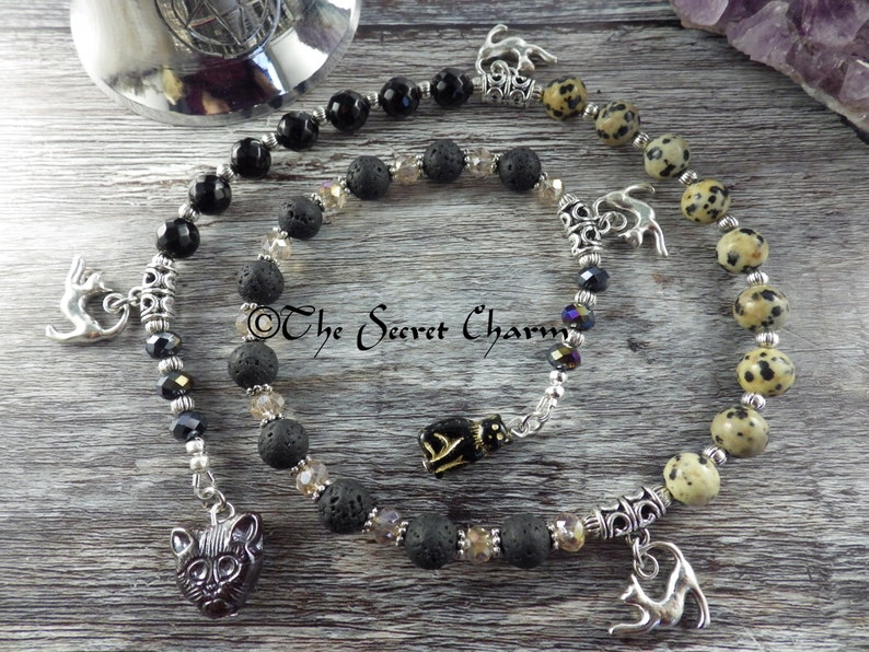 Pagan Prayer Beads, Cat Goddess Bast, Witches' Ladder, Wiccan Rosary, Spell  Casting, Mala Beads, Meditation Beads, Worry Beads