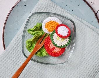 Amigurumi Crochet Fried Egg Play Food~Handmade Crochet Play Food~Child/'s Kitchen~Pretend Play~Crochet Breakfast Food~Photo Prop~Amigurumi