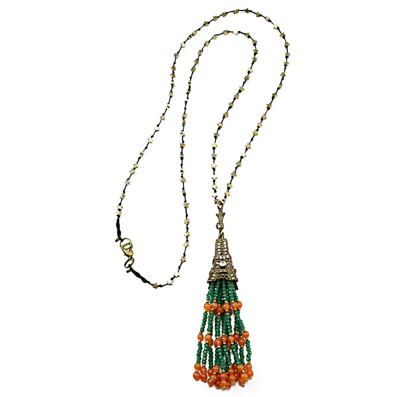 Boho jewelry for women Gift for women Boho necklace Bohemian long necklace for women Vintage tassel necklace Unique gift