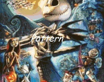 The Nightmare Before Christmas #4. Jack Skellington. Cross Stitch Pattern. PDF Files.