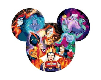 Disney Villains. Cross Stitch Kit.