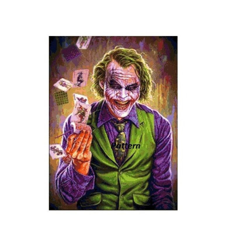 Joker Cross Stitch Pattern PDF Files.