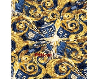 Doctor Who Tardis. Cross Stitch Kit.