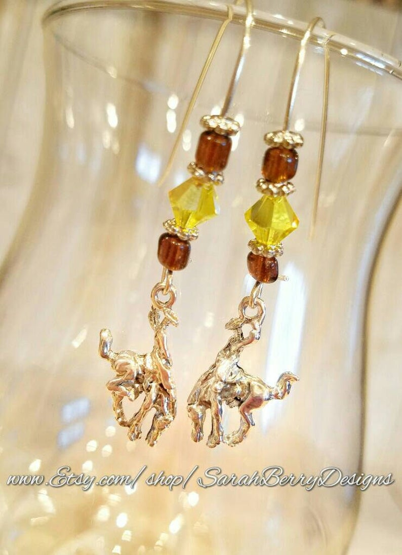 Wyoming Cowboys Earrings - Steamboat- Bucking Horse and Rider- University  of Wyoming- 307 - Brown and Gold-Pokes- Jewelry-Gifts for Her-Wyo