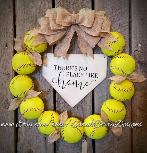 Handmade Softball Wreath...Perfect for Sports Fans!