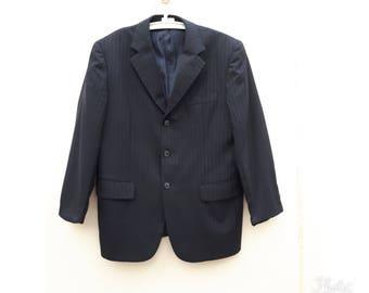 Men s Vintage 1990 Givenchy Men Black   Gray Blazer Sport Coat Size 40S bf2cff840641