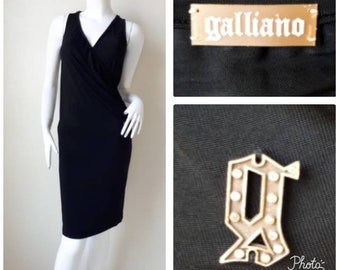 30d30cff4 Iconic John Galliano Black Dress Size 26/40 Small - Medium.