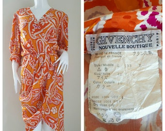 3f7f91e8 GIVENCHY Nouvelle Boutique, Silk Dress Made in France Size 40/10