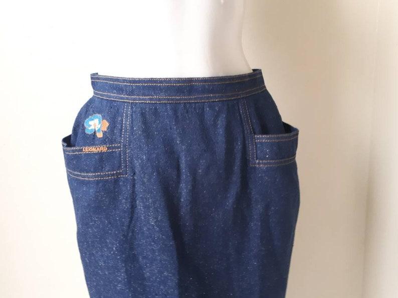 Leonard Skirt Leonard Fashion Paris Jeans Women Skirt Vintage Leonard Denim Skirt Waist 28