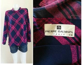 Vintage Pierre Balmain Print Blouse  Size M - L