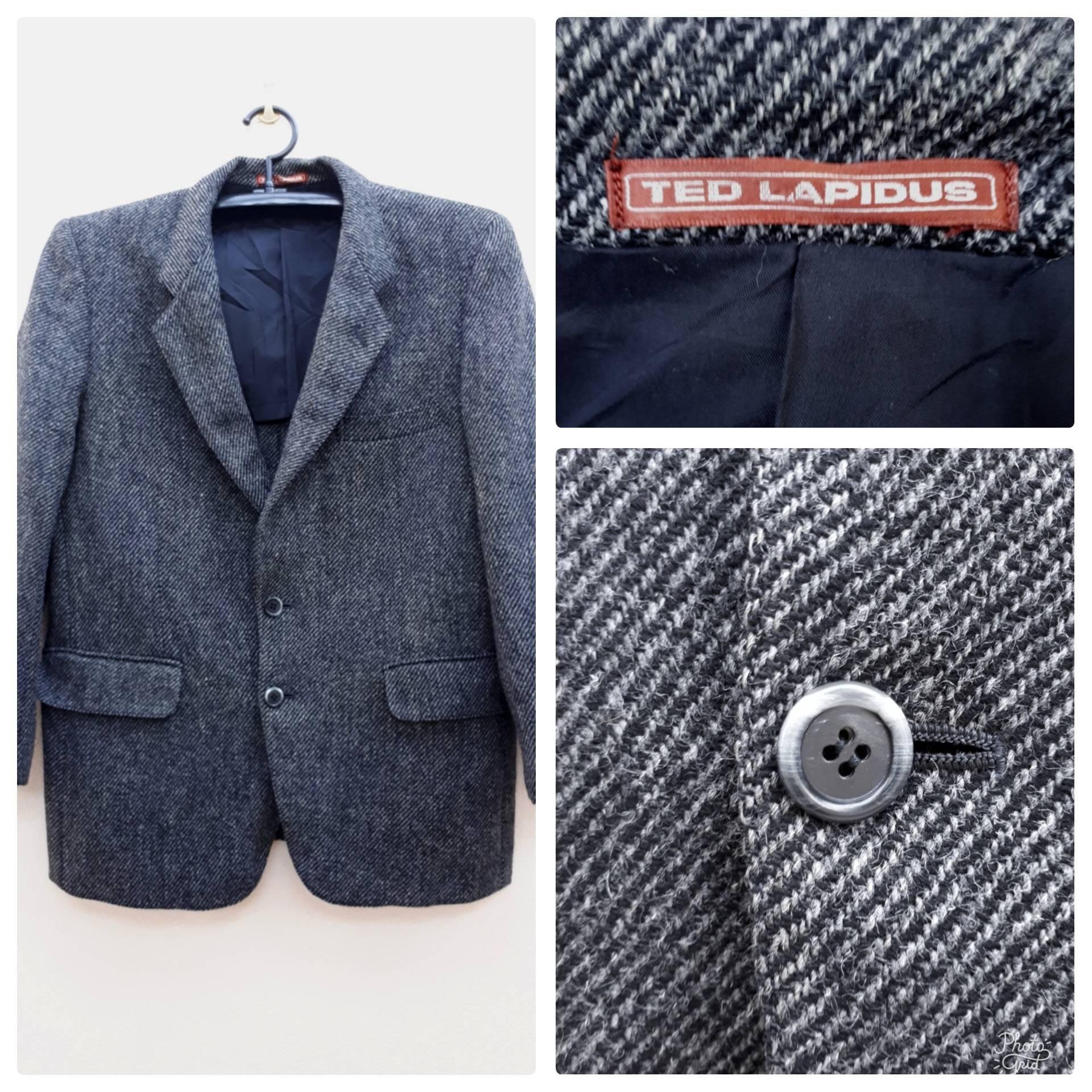 1950s Mens Suits & Sport Coats | 50s Suits & Blazers Mens Suit Jacket - Designer Ted Lapidus 1950S-Inspired Gangster Look Wool Sport CoatBlazer Mens Jacket Size S M $20.00 AT vintagedancer.com