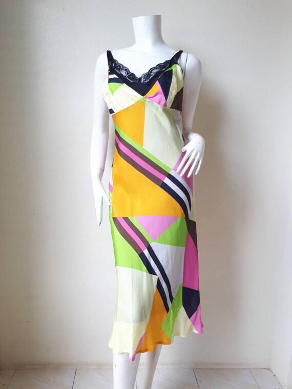 Vintage tricot COMME des GARCONS Silk dress Size M - image 2