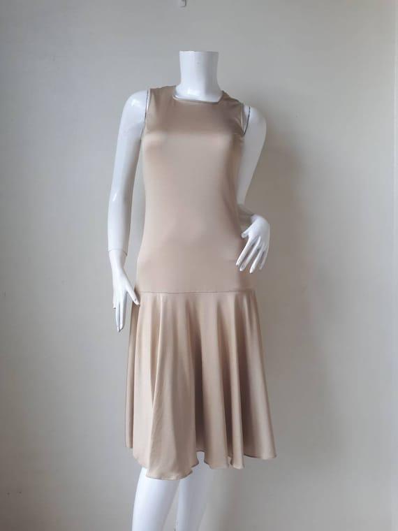 1980s Hanae Mori Ban - Lon Dress / Soft nylon jers